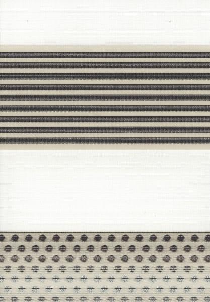 Art. 1540-06 Maßanfertigung Duorollo Pünktchen Boncuklu Zebra Perde Doppelrollo