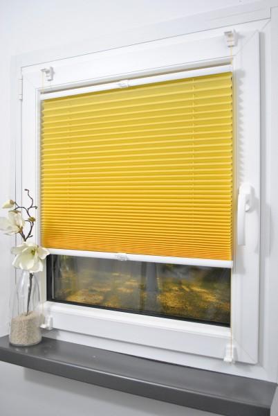 Klemmfix Plissee ohne Bohren Gelb/Orange