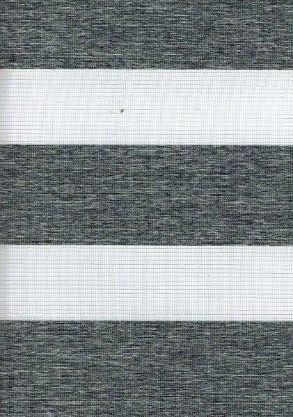 Art. 00036-10 Maßanfertigung Doppel Rollo Zebra NEW Dunkelgrau meliert