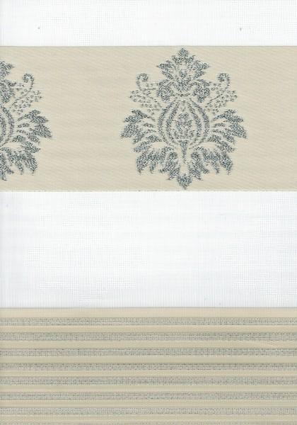 Art. 1624-03 Maßanfertigung Duorollo Barok Muster Boncuklu Zebra Perde Doppelrollo Beige