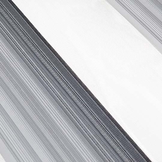 Duo Rollo Doppelrollo PM-V10 Grau Weiß mit Streifen