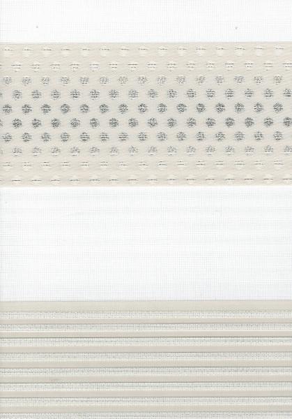Art. 1540-09 Maßanfertigung Duorollo Pünktchen Boncuklu Zebra Perde Doppelrollo Krem/Beige