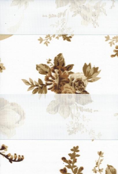 Art. 0608-01 Maßanfertigung Duorollo Blumen Rosen Boncuklu Zebra Perde Doppelrollo