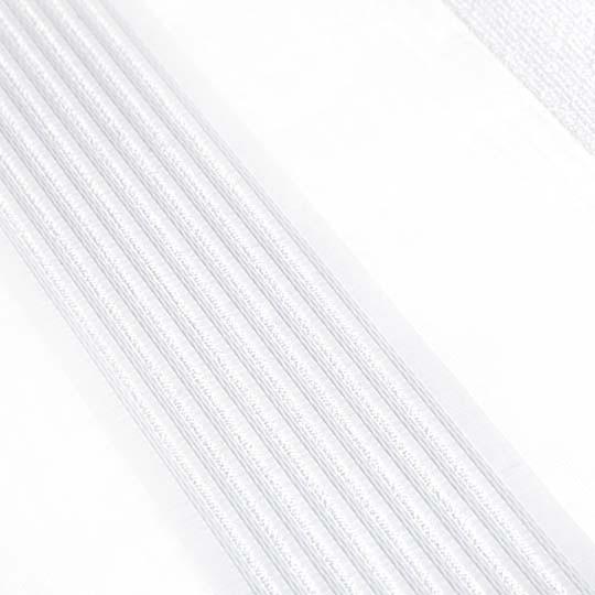 Duo Rollo Doppelrollo 26015-V01 Weiß Silber mit Streifen