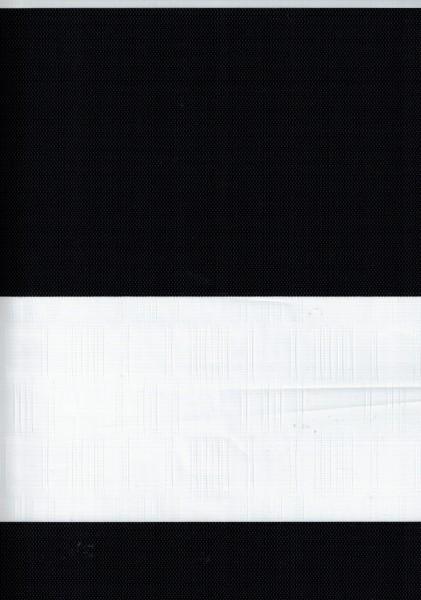 Art. Genis Bambu Maßanfertigung Exklusiv Doppel Rollo Zebra mit breiten Streifen Schwarz