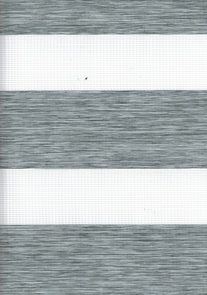 Art. 2127-0114 Maßanfertigung Doppel Rollo Zebra Oregon Grau meliert