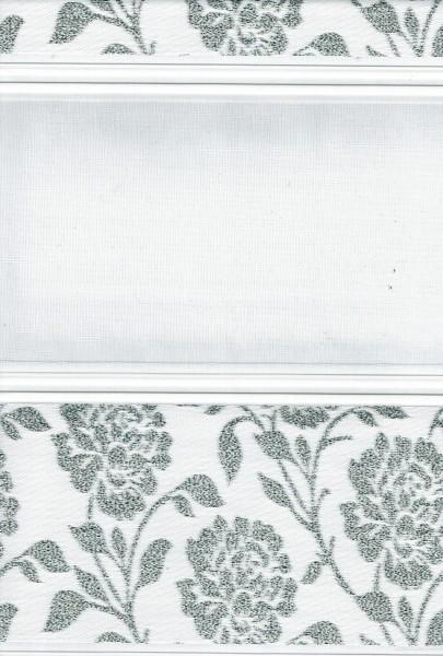 Art. 1534-01 Maßanfertigung Duorollo Rosen Blumen Boncuklu Zebra Perde Doppelrollo Weiß