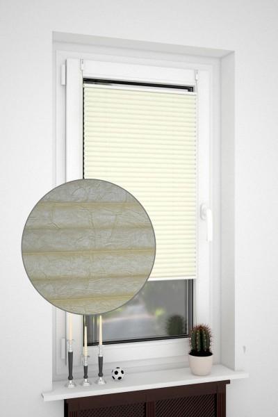 Klemmfix Plissee ohne Bohren oder mit Spannschuh Crush-Optik Creme