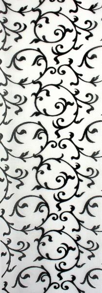 Art: PL26 Flächenvorhang 50x250cm Weiß Rankenmuster Transparent Kürzbar