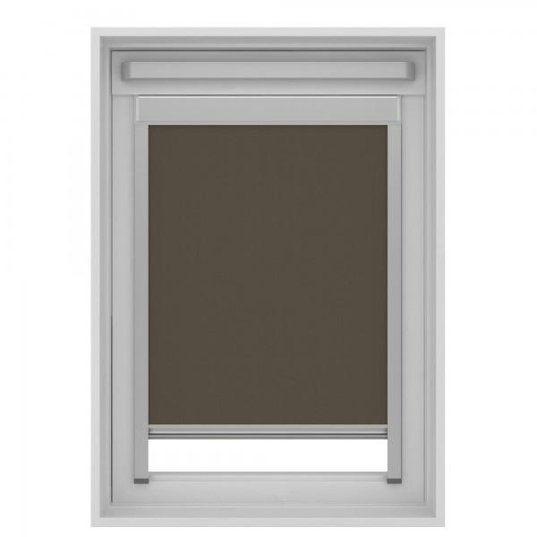Dachfensterrollo Braun für VELUX GGL, GPL, GHL M06