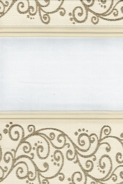 Art. 1533-02 Maßanfertigung Duorollo Ranken Muster Boncuklu Zebra Perde Doppelrollo Gold