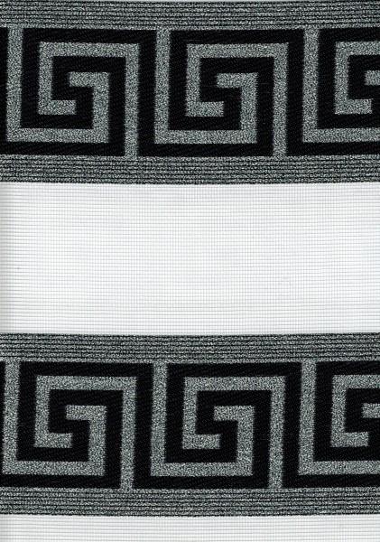 Art. 97000-03 Maßanfertigung Doppel Rollo Zebra Versace Schwarz