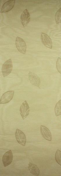 Art: PL16 Flächenvorhang 50x250cm Beige mit Blättermuster Transparent Kürzbar