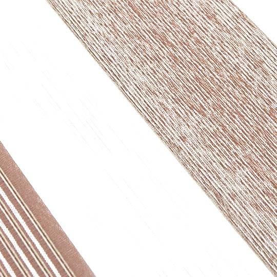 Duo Rollo Doppelrollo 1829 Weiß Braun mit Streifen
