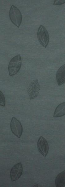 Art: PL12 Flächenvorhang 50x250cm Grau mit Blättermotiv Transparent Kürzbar