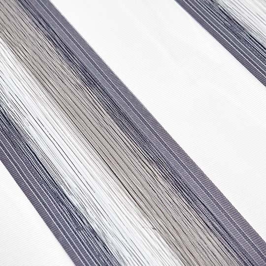 Duo Rollo Doppelrollo 96150-V03 Weiß Grau Beige mit Streifen
