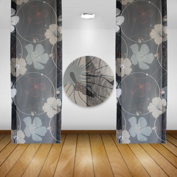 Waschbare Flächenvorhänge Schiebegardine Gardine Vorhang 50x245cm Farbe: 04