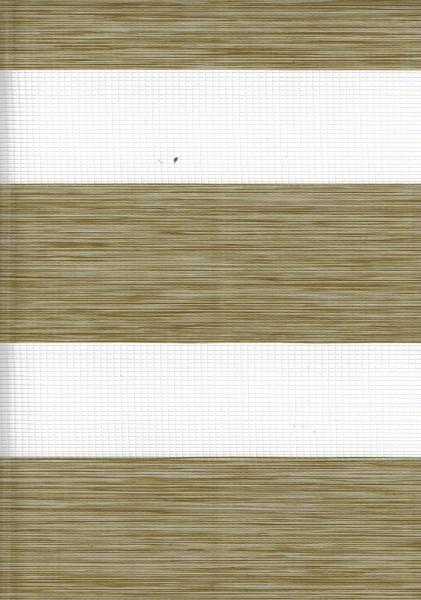 Art. 2127-0115 Maßanfertigung Doppel Rollo Zebra Oregon braun