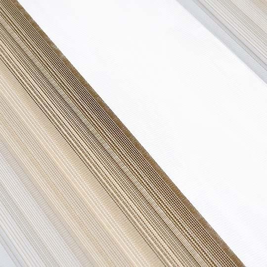 Duo Rollo Doppelrollo PM-V08 Weiß Creme Beige mit Streifen