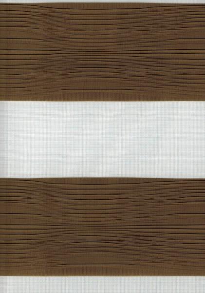Art. 2502-805 Maßanfertigung Doppel Rollo Zebra Braun
