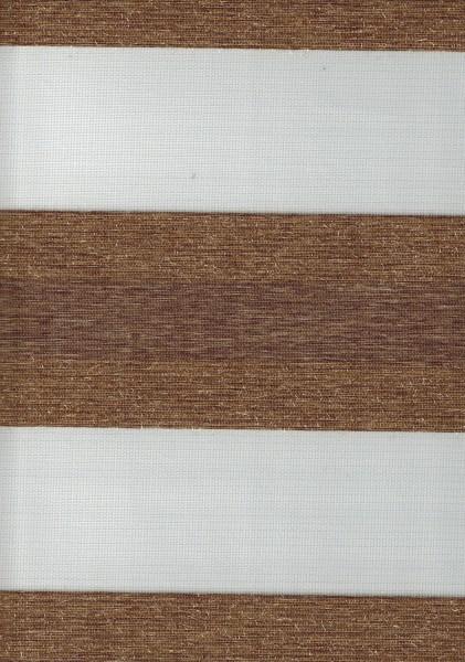 Art. SJE0159-4 Maßanfertigung Doppel Rollo Zebra Braun