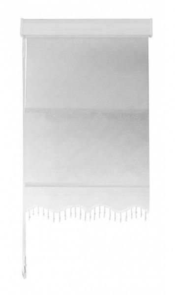 Maßanfertigung Doppelstoff Rollo RTE-06 Schnee Weiß
