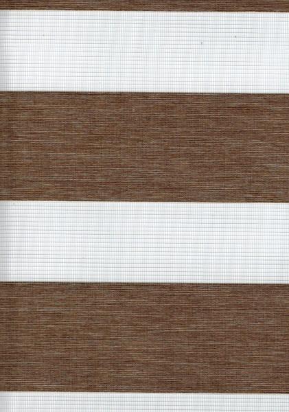 Art. SD41-03 Maßanfertigung BLACKOUT Doppel Rollo Zebra Hellbraun