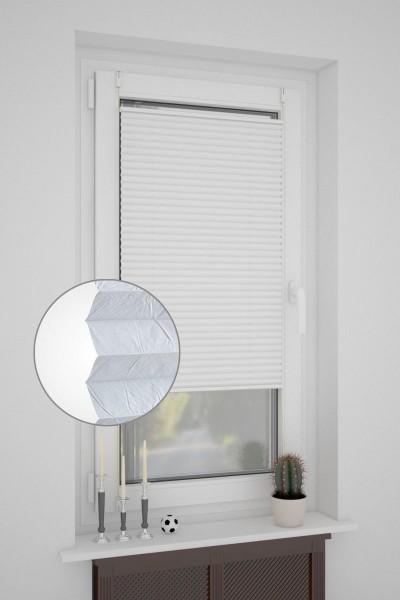 Klemmfix Plissee ohne Bohren oder mit Spannschuh Crush-Optik Weiß