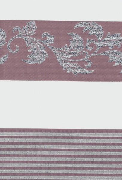 Art. 1627-06 Maßanfertigung Duorollo JAKAR GARDEN Boncuklu Zebra Perde Doppelrollo Lila